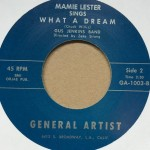 Single - Mamie Lester - All By Myself / What A Dream