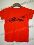 Kinder Shirt - Aloha, Rot