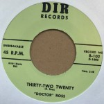 Single - Doctor Ross - Industrial Boogie , Thirty-Two Twenty