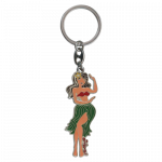 Keychain - Metal - Hula Girl