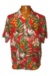 Hawaii - Shirt - Birds Of Paradise , Red