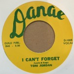 Single - Toni Jordan - The Bend / I Can't Forget