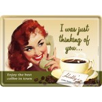 Metal Postcard - Thinking Of You