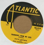 Single - Ruth Brown - Teardrops From My Eyes / As Long As I?m Moving
