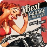 Metall-Untersetzer-SET 5x - Best Garage - Red
