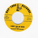 Single - Eugene Jefferson - I Won't Cry No More / Too Young