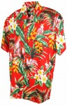 Hawaii - Shirt - Paradise Birds RED