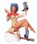 Pin Up Girl Aufkleber - Retro Pin Up 8