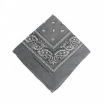 Bandana - Grey Paisley Patterned