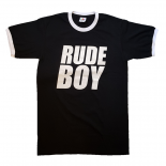 Ringer-Shirt - Busters - RUDE BOY, black