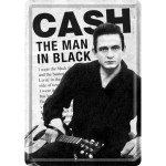 Blechpostkarte - Johnny Cash - Man In Black