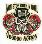 Aufkleber - Vince Ray - Non Stop Voodoo Rock and Roll