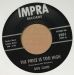 Single - Bob Caine - Crazy About You Baby / The Price Is Too High