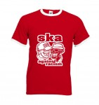 Ringer-Shirt - Busters - SKA AGAINST RACISM, rot XL