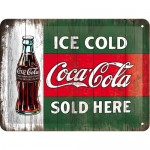 Tin-Plate Sign 15x20 cm - Coca Cola - Ice Cold Sold Here