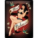 Blechschild 30x40 cm - Pin Up - Miss Behaving