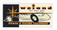 Hot Rod Aufkleber - Weiand Power & Racing Equipement