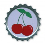 Button - Kronkorken - Cherries