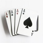 Gürtelschnalle - Aces Poker Card