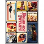 Magnet-Set - Movie-Art Retro (9-teilig)