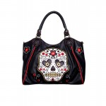 Purse - Black With White Skull