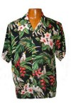 Hawaii - Shirt - Birds Of Paradise, Black