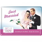 Blechpostkarte - Just Married